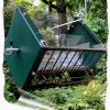 Roller Feeder 2 - Cardinal - Clear Green & Black Squirrel Proof Bird Feeder