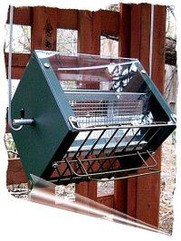 Roller Feeder 2 - Cardinal - 2 Tone Green - RedSq Squirrel Proof Bird Feeder