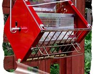 Roller Feeder 2 - Cardinal - Red & Gold Squirrel Proof Bird Feeder