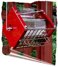 Roller Feeder 2 - Cardinal - Red & Gold Squirrel Proof Bird Feeder